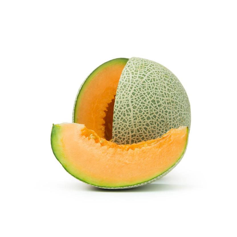 Melón cantalupe de color anaranjado